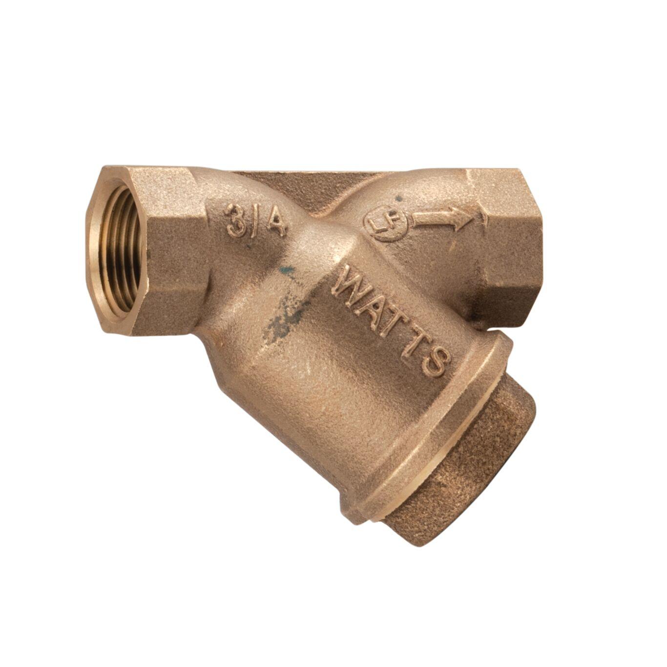 "Wye Strainer 1-1//2/"" NPT Threaded Y-Strainer Lead-Free Brass"