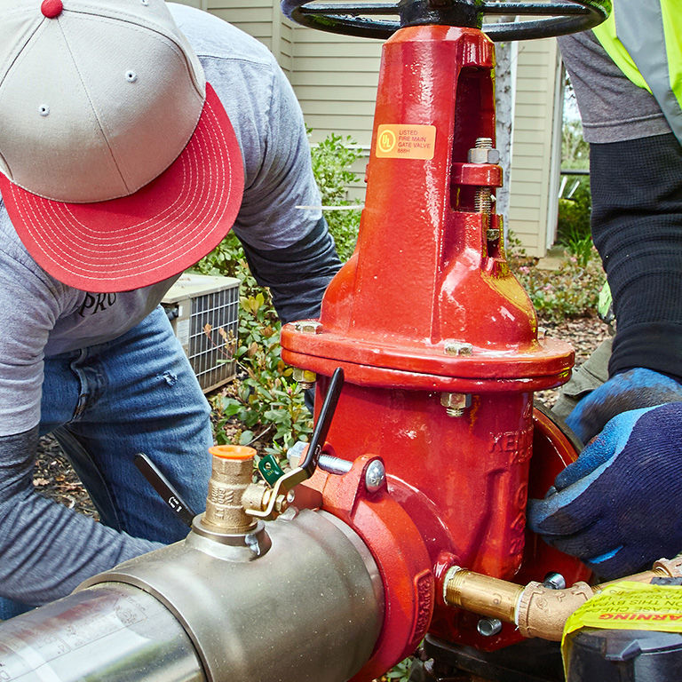 Installation of a backflow preventer