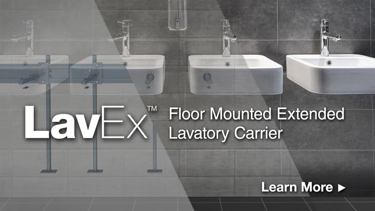 LavEx Floor Mounted Extended Lavatory Carrier