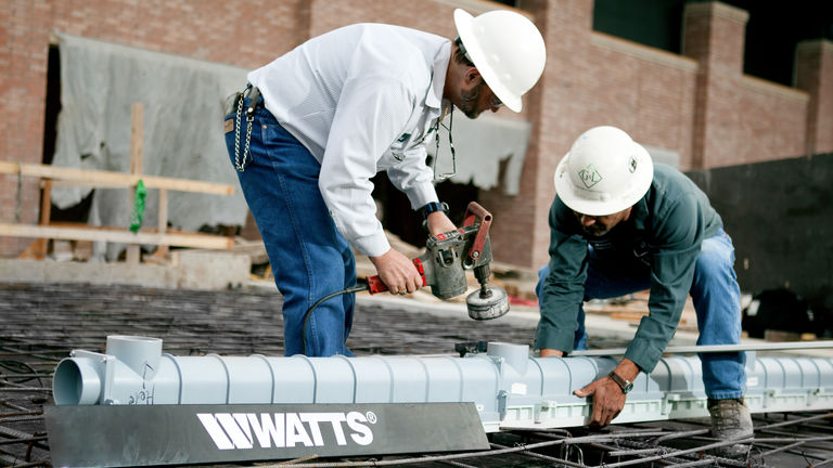 Watts Trench Drain Installation